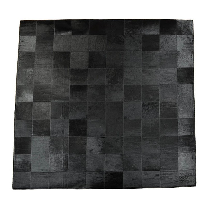Cow hide carpet patchwork blackCow hide carpet patchwork black