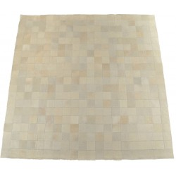 Cow hide carpet patchwork cream white