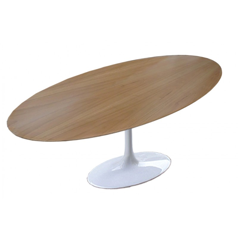 Table Saarinen 224 cm ovale bois