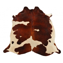 Brown white cow hide carpet