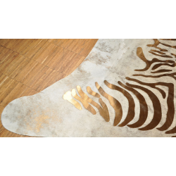 Zebra cow hide cupperZebra cow hide cupper