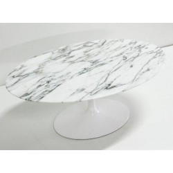 Saarinen oval 199 cm marble tulip table made in Italy