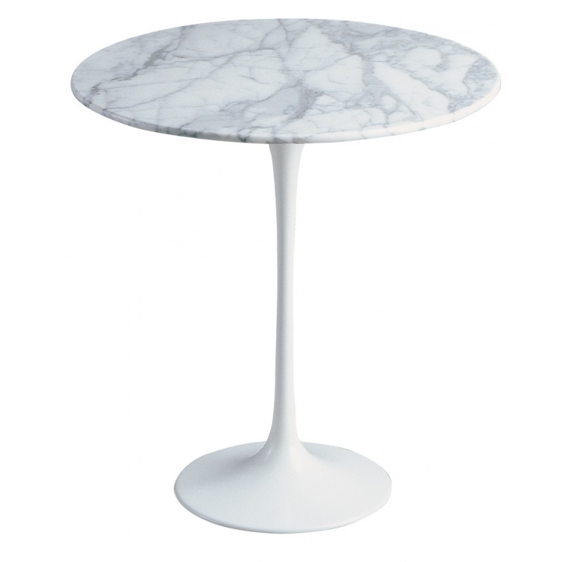 Round marble 50 cm tulip side tableRound marble 50 cm tulip side table