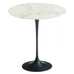 Round marble 50 cm side table