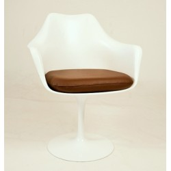 Tulip armchair Abs white