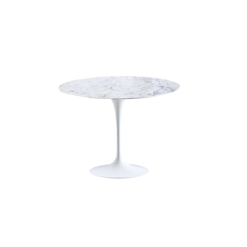 Table tulipe Saarinen 90 cm ronde marbre
