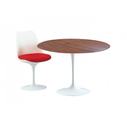 Table Saarinen 107 cm ronde bois tulipe