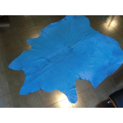 Cow hide rug blueCow hide rug blue