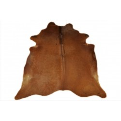 Cow hide rug brown