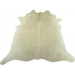 Cow hide rug white