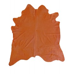 Cow hide rug orange
